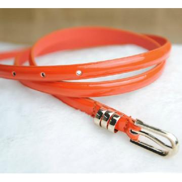 Lady skinny fashion pu ceinture en cuir