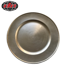 Chanpagne Plastic Plate with Metallic Finish