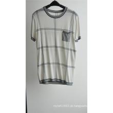 2016new moda algodão viscose manga curta homens camisola