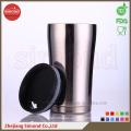Taza de cerveza de vacío de acero inoxidable 350ml para bebida caliente / fría