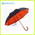 Parapluie de golf d'arbre de bois de promotion (audit social et usine de BSCI)