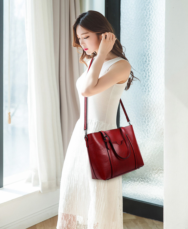 Wholesale Designer genuine leather women vintage tote bags