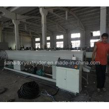 Rohr-Verdrängungsmaschinerie 200-400mm PVCs / Plastikrohr-Verdrängungs-Linie