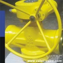 A216 Wcb Válvula de enchufe lubricada balanceada de presión invertida cónica