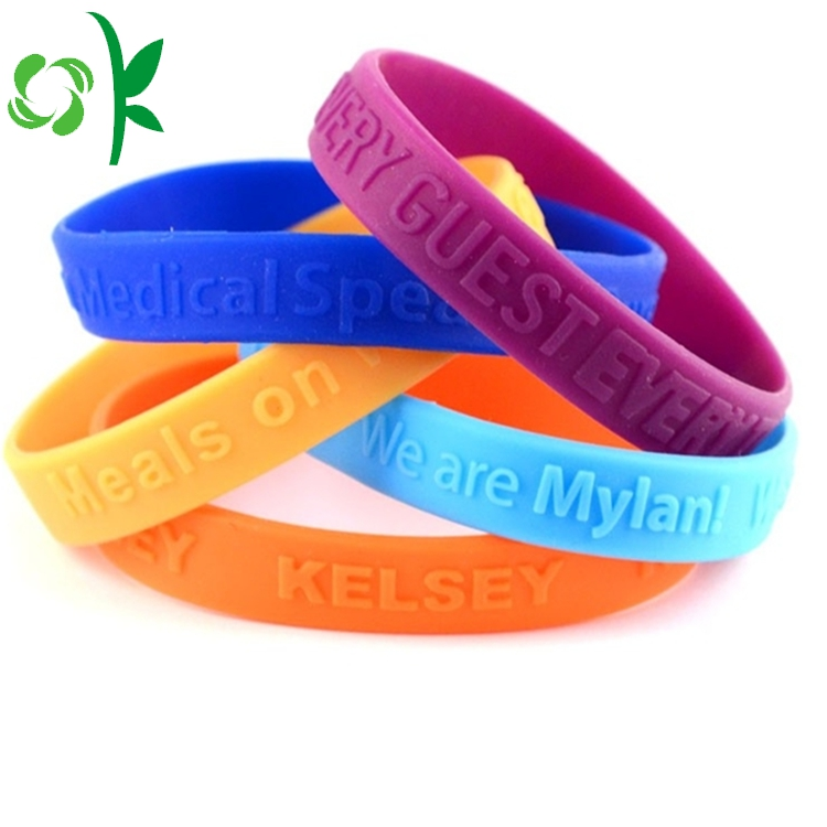 3d Embossed Silicone Bracelet