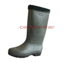 Neueste Mode Kniehohe PVC wasserdichte warme Stiefel (66750)
