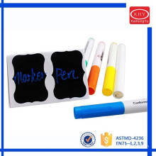 Promoting with chalkboard sticker colorful chalk markers