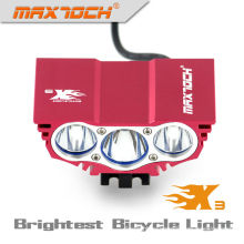 Maximoch X3 3000LM 4 * 18650 Pack Luz LED inteligente para bicicleta