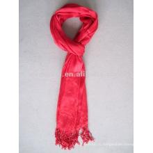 Очаровательный вискозный простой красный шарф