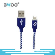 Cabo rápido de carregamento do relâmpago dos dados do USB micro para o smartphone