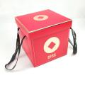 caja de regalo con asa de papel plegable con cinta de grosgrain