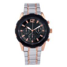 Customized is accept stainless steel strap or leather strap mens watches in wristwatches luxury