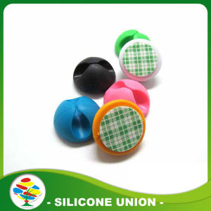 Đa dụng Silicone cao su Earphone Cable Holder clip