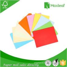 A4 Fluorescent Color Copy Paper Papel de impresión 75GSM