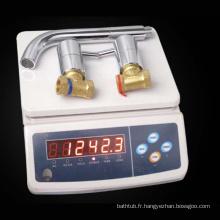 Robinet d'eau de mélangeur de cuvette en laiton et robinets de robinet de lavabo
