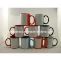 Red Color Mug with White Panel Sulimation Mug
