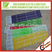 Pulsera promocional barata de papel RFID
