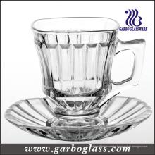 Taza de vidrio y platillo Set / Set de té (TZ-GB09D1405H)