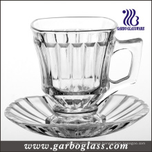 Glass Mug & Saucer Set /Tea Set (TZ-GB09D1405H)