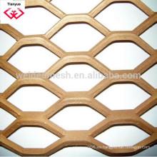 Placa perforada / malla perforada, paneles plegados o planos, de acero galvanizado, aluminio o SS