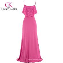 Grace Karin Occident Mujer Verano Spaghetti correas Long Beach vestido Maxi vestido CL008933-1
