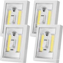 Vara sem fio LED a pilhas no interruptor de luz