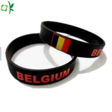 Custom Silicone Bracelet High Quality Black Wrist Strap