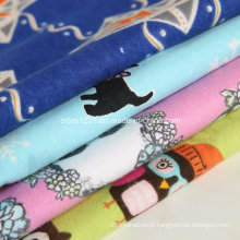 100% tecido de flanela de algodão para pijamas com desenhos animados impresso (c20x10 / 40x42)