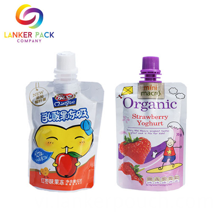Fad Approved Custom Doypack Juice Pouches With Spout