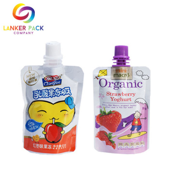 Custom Plastic Spout Bag Pouch For Baby Food