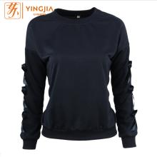 Women's Long Sleeve Arm Bow Decorative Pullover Sweatshirt