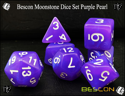 Purple Pearl Dice Set-1