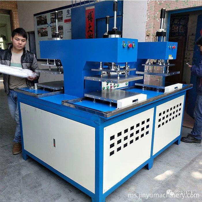 Four station embossing machine