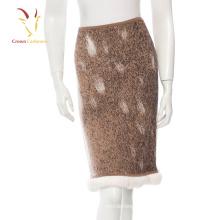 Falda caliente hecha punto de las lanas de cachemira de las muchachas de la moda