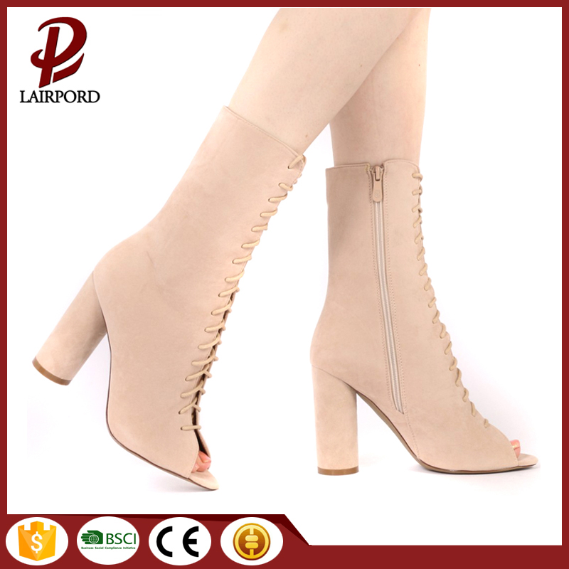 suede strap ladies high heel shoes sandals