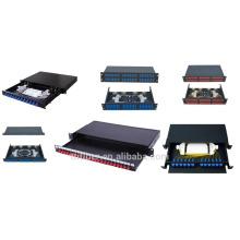 Panneau de raccordement fibreuse coulissante CF / ST / LC / FC pour réseaux de télécommunication, réseaux CATV
