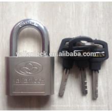 Высокая безопасность Гальваника Серебряный Малый Симпатичный пластиковый ключ ручки Никелированный Железный Padlock