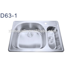 Stainless steel double bowl kitchen sinks wholesale