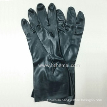 Black Neoprene Industrial Chemical Hand Working Gloves