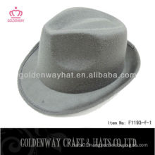 Mens Grey Fedora Hat cheap felt hats promotional design