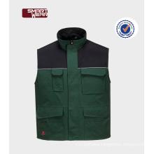 OEM service sleeveless workwear outdoor winter custom vest