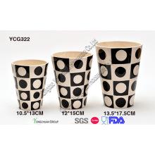 Vaso decorativo de cerámica para la venta al por mayor