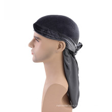 Adjustable velvet material turban bandanas hat