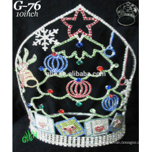 Novos designs rhinestone royal accessories wholesale tiara and Christmas crown