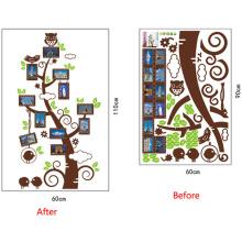 Fábrica directamente al por mayor barato marco de fotos árbol decorativo etiqueta de la pared de vinilo removible etiqueta de la pared