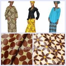 En gros et au détail africain Shadda Bazin Riche Abaya matériel Boubou Guinée brocart tissu 10 couleurs et motifs