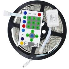 54LED/М 5м 5050 RGB Водонепроницаемый мечта Цвет скачки изменяя набор света прокладки СИД + 25 ключевых пульт дистанционного управления