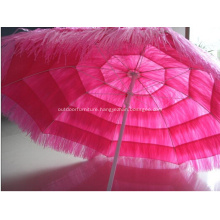 Outdoor Hotel Straw Beach Umbrella