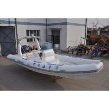 Barco inflável de velocidade de carga pesada rígida de 6,8 m