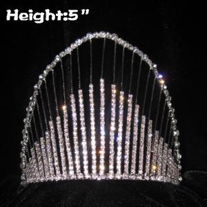 Coronas de diamantes de imitación de cristal de arco iris de 5 pulgadas